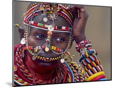 Portrait of a Samburu Maiden--Mounted Photographic Print