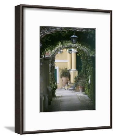 Lanterns Hanging in a Garden, Capri, Naples, Campania, Italy--Framed Photographic Print