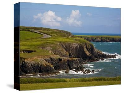 Dunabrattin Head, the Copper Coast, County Waterford, Ireland--Stretched Canvas Print