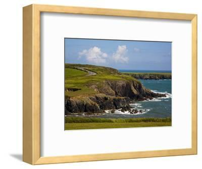 Dunabrattin Head, the Copper Coast, County Waterford, Ireland--Framed Photographic Print