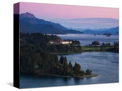Hotel at the Lakeside, Llao Llao Hotel, Lake Nahuel Huapi, San Carlos De Bariloche--Stretched Canvas Print