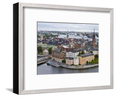 High Angle View of a City, Stockholm, Sweden--Framed Photographic Print