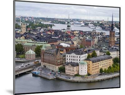 High Angle View of a City, Stockholm, Sweden--Mounted Photographic Print