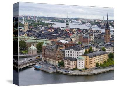 High Angle View of a City, Stockholm, Sweden--Stretched Canvas Print