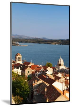 High Angle View of a Cathedral in a Town on the Coast, Sibenik Cathedral, Sibenik, Dalmatia--Mounted Photographic Print