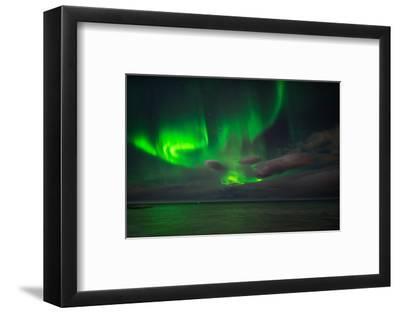 Aurora Borealis or Northern Lights, Reykjavik, Iceland--Framed Photographic Print