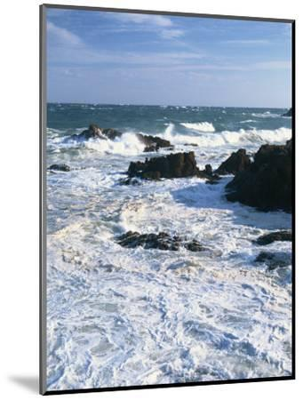 Waves Breaking on the Rocks Along the Corniche D'Esterel, Alpes-Maritimes, Provence, France-David Hughes-Mounted Photographic Print