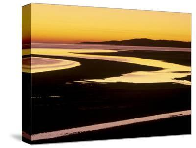 Sunset over Luskentyre Bay, at Low Tide, West Coast of South Harris, Outer Hebrides, Scotland, UK-Patrick Dieudonne-Stretched Canvas Print