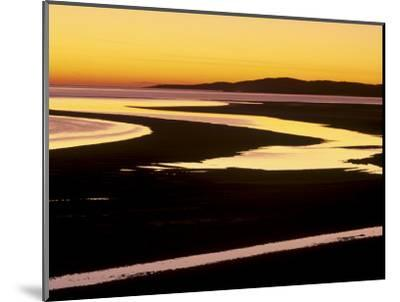 Sunset over Luskentyre Bay, at Low Tide, West Coast of South Harris, Outer Hebrides, Scotland, UK-Patrick Dieudonne-Mounted Photographic Print