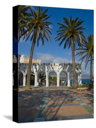 Balcon De Europa, Nerja, Costa Del Sol, Andalucia, Spain, Europe-Charles Bowman-Stretched Canvas Print