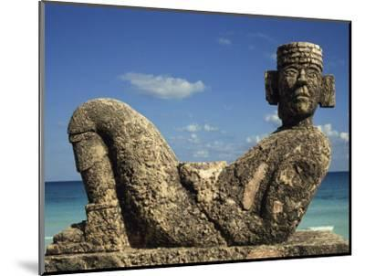 Statue of Chac-Mool, Cancun, Quitana Roo, Mexico, North America-Charles Bowman-Mounted Photographic Print