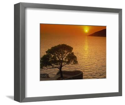 Sunset, Sveta Nedelja, Hvar Island, Croatia, Europe-Ken Gillham-Framed Photographic Print
