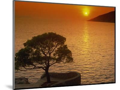 Sunset, Sveta Nedelja, Hvar Island, Croatia, Europe-Ken Gillham-Mounted Photographic Print