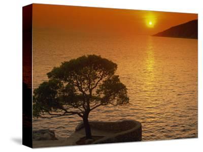Sunset, Sveta Nedelja, Hvar Island, Croatia, Europe-Ken Gillham-Stretched Canvas Print