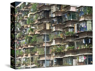 Detail of Housing, Guangzhou, China-Tim Hall-Stretched Canvas Print