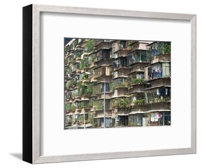 Detail of Housing, Guangzhou, China-Tim Hall-Framed Photographic Print