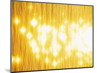 Abstract Bright Yellow Background with Sparks--Mounted Photographic Print