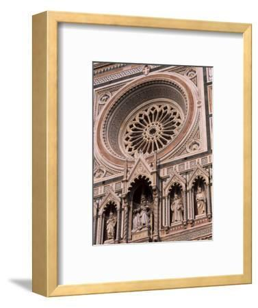 Rose Window and Facade of Polychrome Marble, Duomo Santa Maria Del Fiore, Florence, Tuscany, Italy-Patrick Dieudonne-Framed Photographic Print