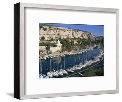 Boats Moored in Harbour, Port Miou, Calanques De Cassis, Bouches Du Rhone, France-Morandi Bruno-Framed Photographic Print