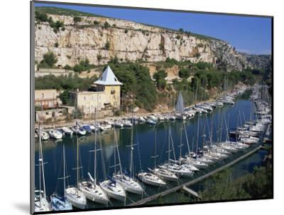 Boats Moored in Harbour, Port Miou, Calanques De Cassis, Bouches Du Rhone, France-Morandi Bruno-Mounted Photographic Print
