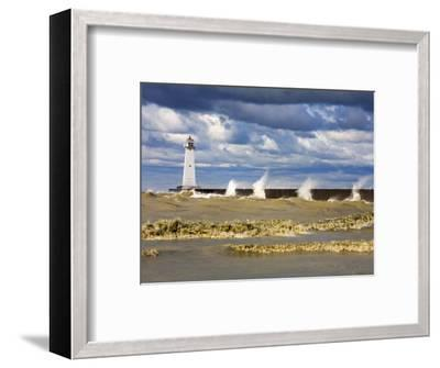Sodus Outer Lighthouse, Sodus Point, Greater Rochester Area, New York State, USA-Richard Cummins-Framed Photographic Print