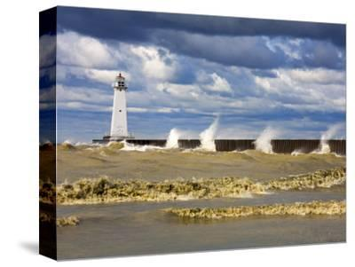 Sodus Outer Lighthouse, Sodus Point, Greater Rochester Area, New York State, USA-Richard Cummins-Stretched Canvas Print