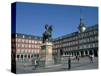 Plaza Mayor, Madrid, Spain, Europe-Marco Cristofori-Stretched Canvas Print