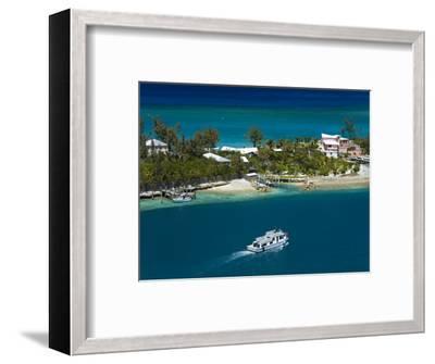 House on Paradise Island, Nassau, New Providence Island, Bahamas, West Indies, Central America-Richard Cummins-Framed Photographic Print