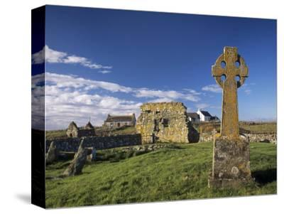 Medieval Burial Ground and Chapels, at Howmore, South Uist, Outer Hebrides, Scotland-Patrick Dieudonne-Stretched Canvas Print