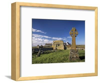 Medieval Burial Ground and Chapels, at Howmore, South Uist, Outer Hebrides, Scotland-Patrick Dieudonne-Framed Photographic Print