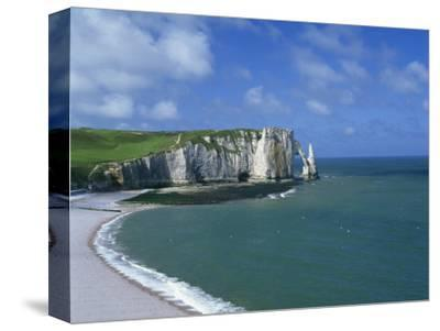 Falaises, Near Etretat, Haute Normandie, France-Hans Peter Merten-Stretched Canvas Print