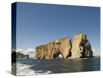 Perce Rock, Gaspe Peninsula, Province of Quebec, Canada, North America-Snell Michael-Stretched Canvas Print
