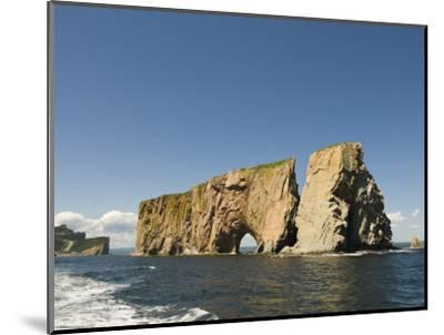 Perce Rock, Gaspe Peninsula, Province of Quebec, Canada, North America-Snell Michael-Mounted Photographic Print