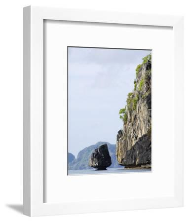 Bacuit Bay, El Nido Town, Palawan Province, Philippines, Southeast Asia-Kober Christian-Framed Photographic Print