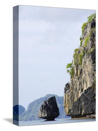Bacuit Bay, El Nido Town, Palawan Province, Philippines, Southeast Asia-Kober Christian-Stretched Canvas Print