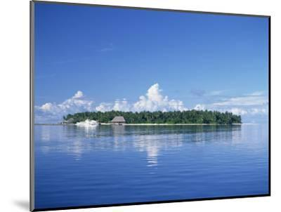 Tropical Island with Palm Trees, Surrounded by the Sea in the Maldive Islands, Indian Ocean-Tovy Adina-Mounted Photographic Print
