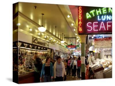 Pike Market, Seattle, Washington State, United States of America, North America-De Mann Jean-Pierre-Stretched Canvas Print