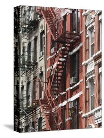 Fire Escapes, Chinatown, Manhattan, New York, United States of America, North America-Martin Child-Stretched Canvas Print