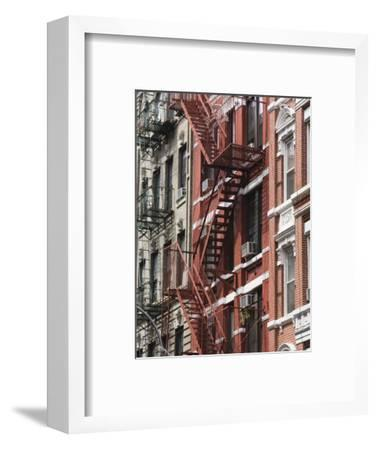 Fire Escapes, Chinatown, Manhattan, New York, United States of America, North America-Martin Child-Framed Photographic Print