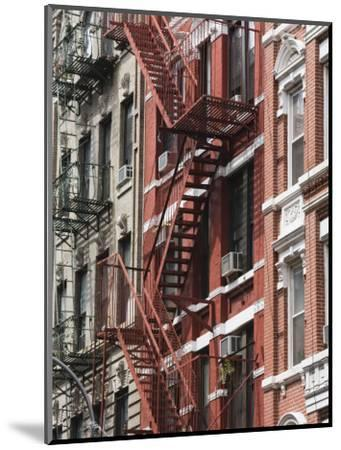 Fire Escapes, Chinatown, Manhattan, New York, United States of America, North America-Martin Child-Mounted Photographic Print