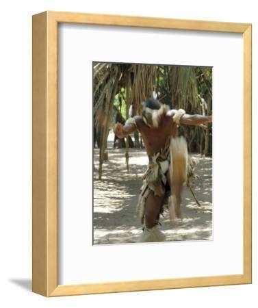 Zulu Tribal Dance Group, Dumazula Cultural Village, South Africa, Africa-Peter Groenendijk-Framed Photographic Print