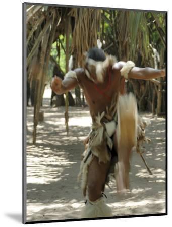 Zulu Tribal Dance Group, Dumazula Cultural Village, South Africa, Africa-Peter Groenendijk-Mounted Photographic Print