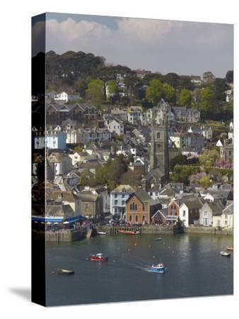 View from Penleath Point, Fowey, Cornwall, England, United Kingdom, Europe-Rob Cousins-Stretched Canvas Print