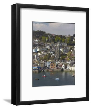 View from Penleath Point, Fowey, Cornwall, England, United Kingdom, Europe-Rob Cousins-Framed Photographic Print