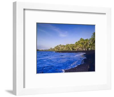 Punaluu Black Sand Beach, Big Island, Hawaii, United States of America, Pacific, North America-Michael DeFreitas-Framed Photographic Print
