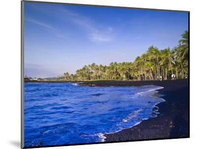Punaluu Black Sand Beach, Big Island, Hawaii, United States of America, Pacific, North America-Michael DeFreitas-Mounted Photographic Print