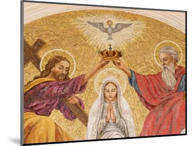 Coronation of the Virgin Mary, Basilica of Fatima, Fatima, Estremadura, Portugal, Europe-Godong-Mounted Photographic Print