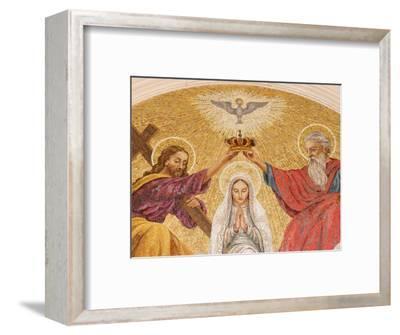 Coronation of the Virgin Mary, Basilica of Fatima, Fatima, Estremadura, Portugal, Europe-Godong-Framed Photographic Print