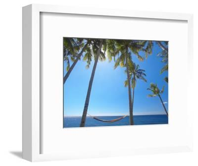 Hammock Between Palm Trees on Beach, Bali, Indonesia, Southeast Asia, Asia-Sakis Papadopoulos-Framed Photographic Print