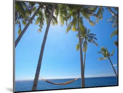 Hammock Between Palm Trees on Beach, Bali, Indonesia, Southeast Asia, Asia-Sakis Papadopoulos-Mounted Photographic Print